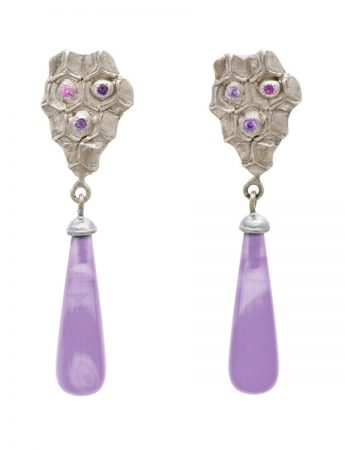 Lavender Drop Amethyst Earrings