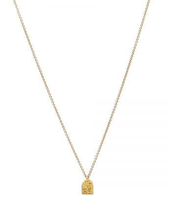 Sacred Palm Necklace - Yellow Gold