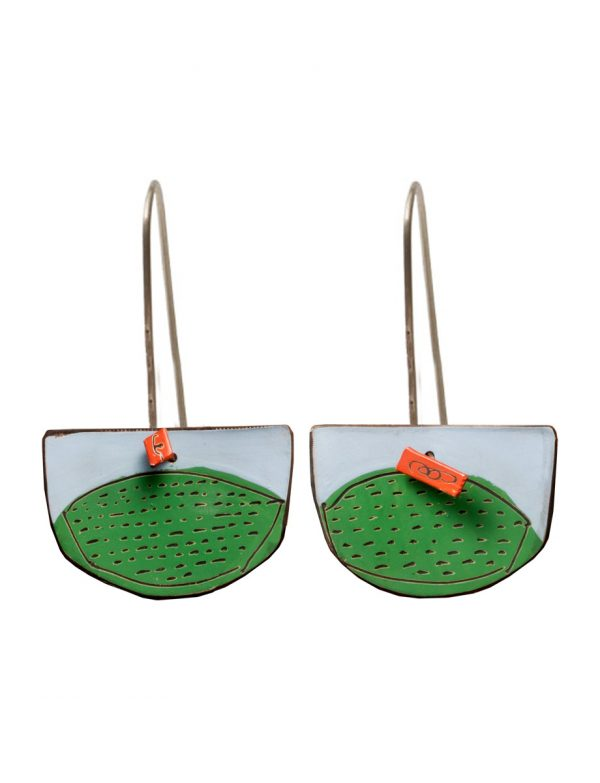 Pages Reversible Earrings – Blue & Green