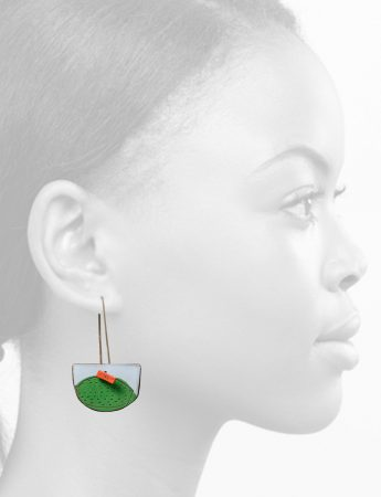 Pages Reversible Earrings - Blue & Green