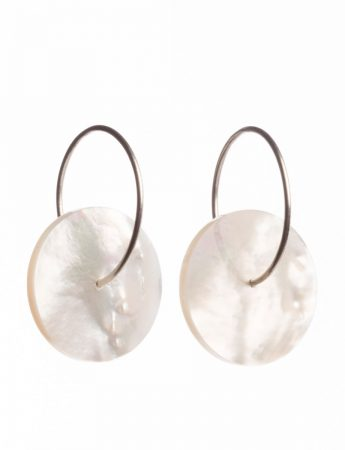 High Tide Hoop Earrings - Mother of Pearl