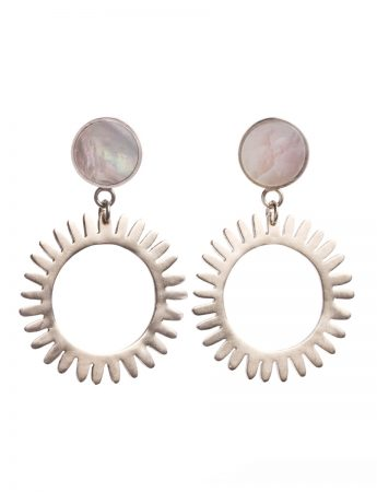 Medium Still Water Hoop Earrings - Mother of Pearl