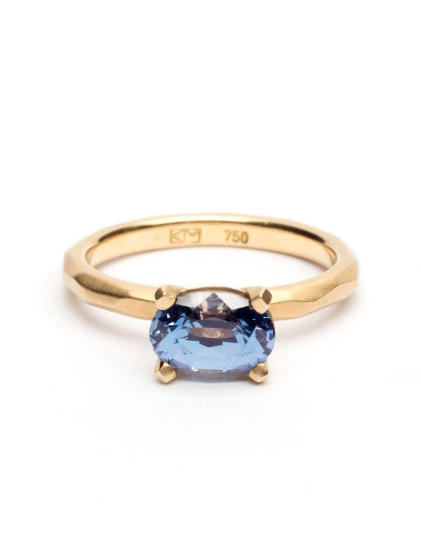 Faceted Ring – Blue Spinel