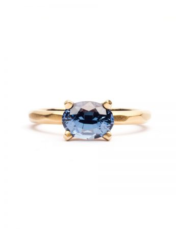 Faceted Ring - Blue Spinel