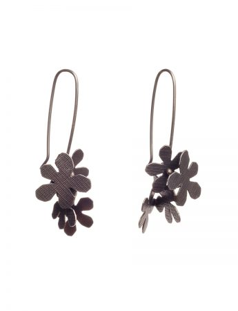 Short Jasmine Earrings - Black