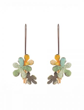 Short Jasmine Earrings - Green & Orange