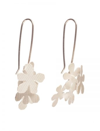 Short Jasmine Earrings - Silver