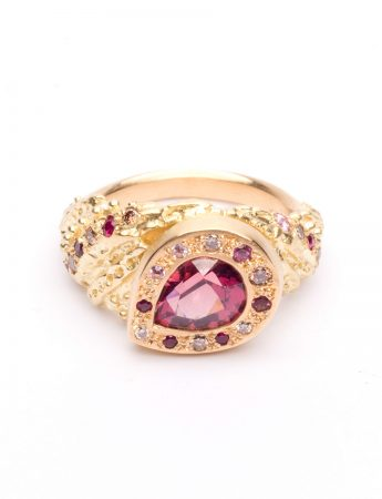 Tapestry Ring - Yellow Gold & Malaya Garnet