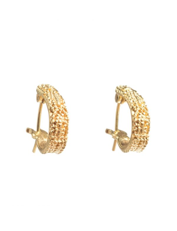 Sacred Palm Hook Earrings – Yellow Gold