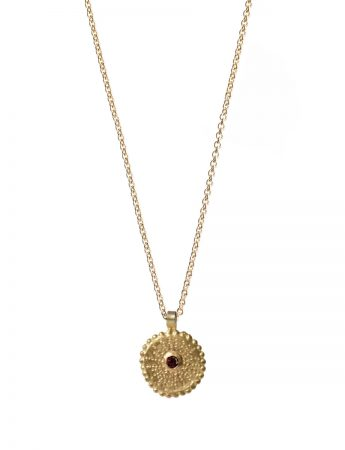 Star Necklace - Gold & Ruby