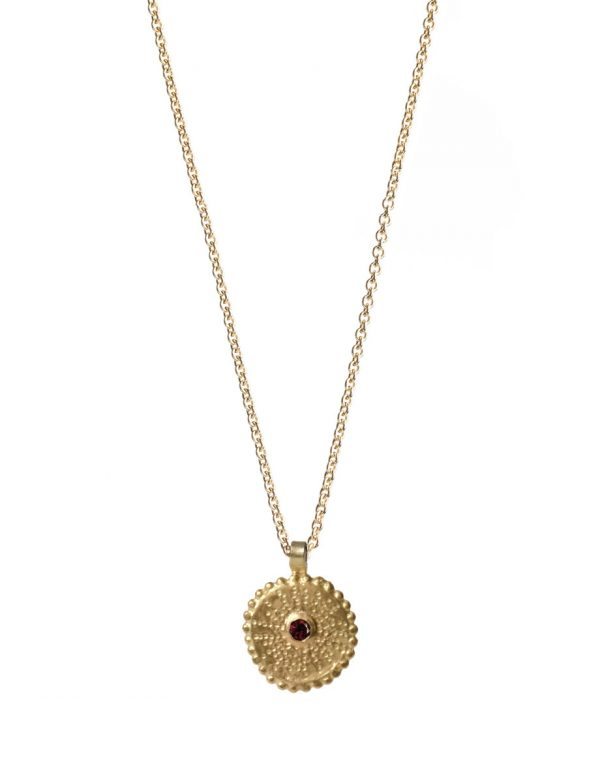Star Necklace – Gold & Ruby