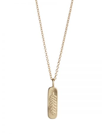Canyon Feather Necklace - Gold