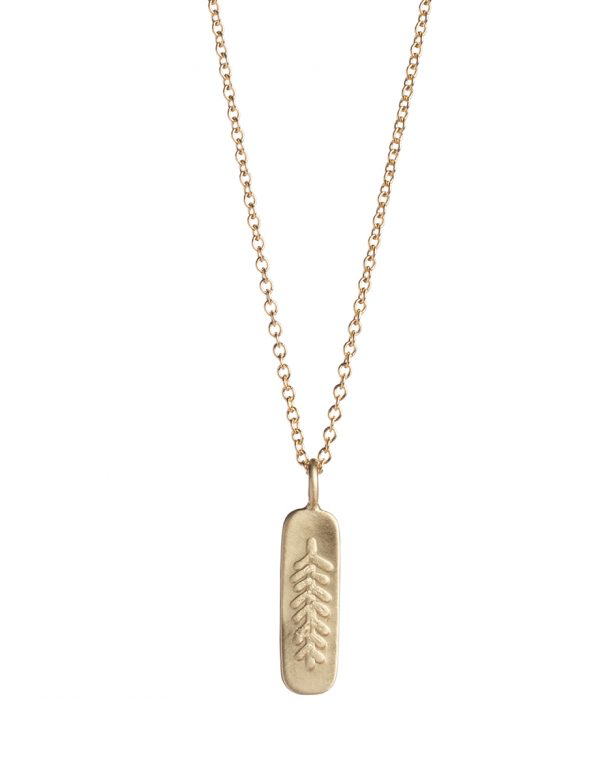 Canyon Feather Necklace – Gold