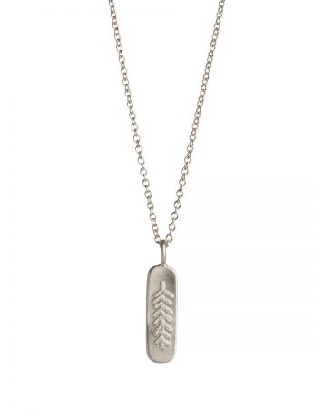 Canyon Feather Necklace - Silver