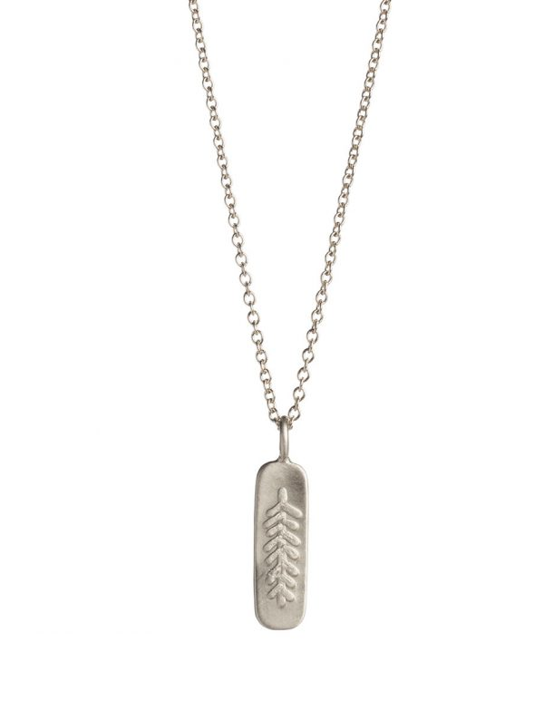 Canyon Feather Necklace – Silver