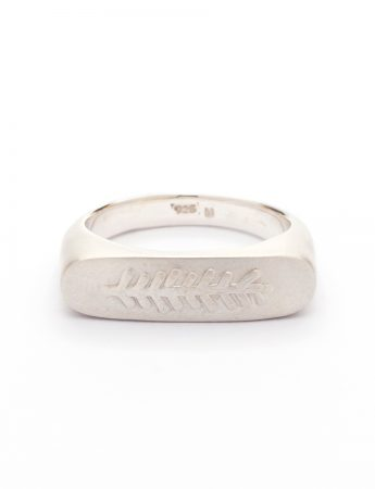 Canyon Feather Signet Ring - Silver