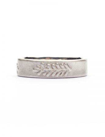Canyon Feather Ring - Silver