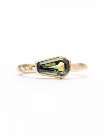Rice Sheaf Ring - Parti Sapphire
