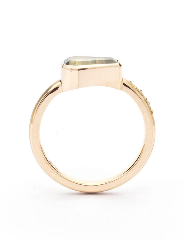 Rice Sheaf Ring – Parti Sapphire