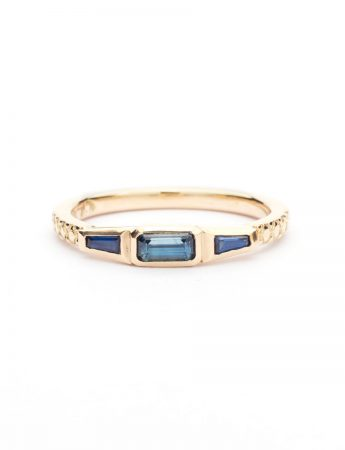 Trilogy Ring - Blue Sapphire