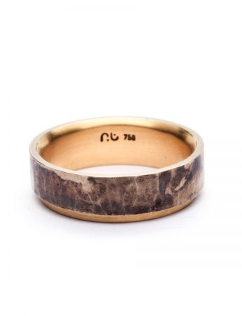 Sleeve Ring – Yellow & White Gold with Patina