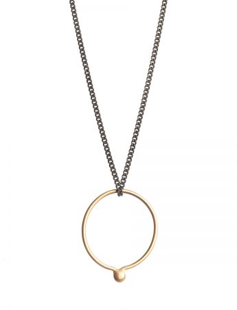 Petits Bague Ring Necklace - Black & Gold