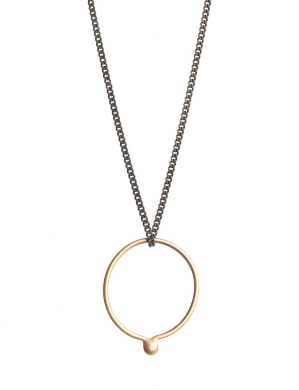 Petits Bague Ring Necklace – Black & Gold