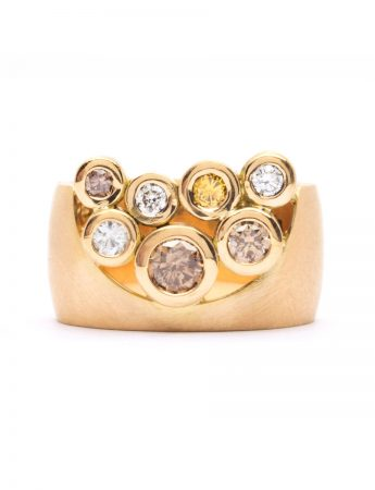 Garden of the Beloved Ring - Champagne & Yellow Diamonds