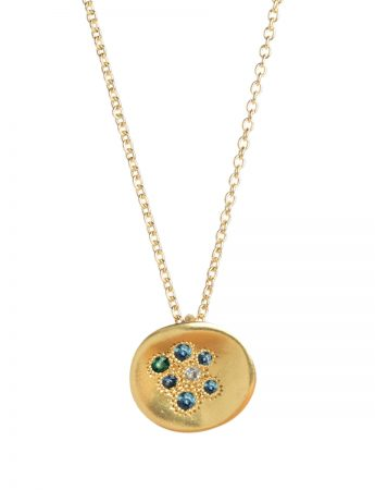 Posy Necklace - Blue Sapphires