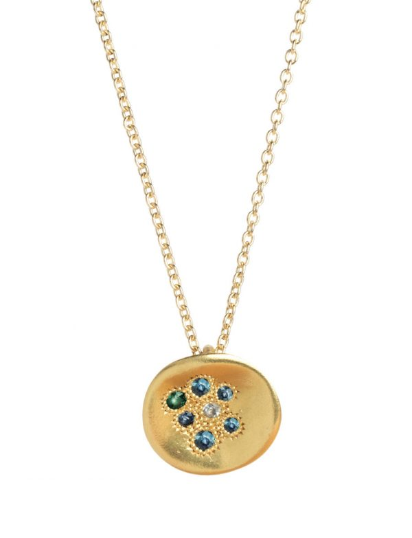 Posy Necklace – Blue Sapphires